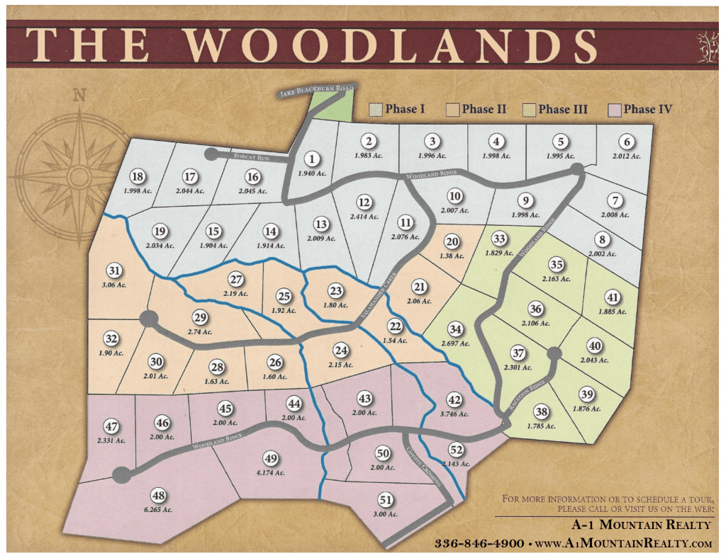 Ashe County Woodlands Plat